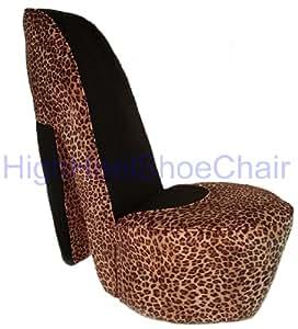 Leopard High Heel Shoe Chair