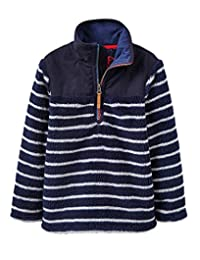 Joules Woozle Half Zip Fleece - French Navy Stripe