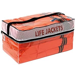 Kent Type II Adult Life Jackets With Clear Storage Bag, 4 Each (Orange)