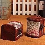 Wooden Piggy Bank Safe Money Box Savings with