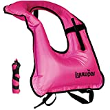 Inflatable Snorkel Vest Adult Snorkeling Jackets Swim Vest for Boating Kayaking