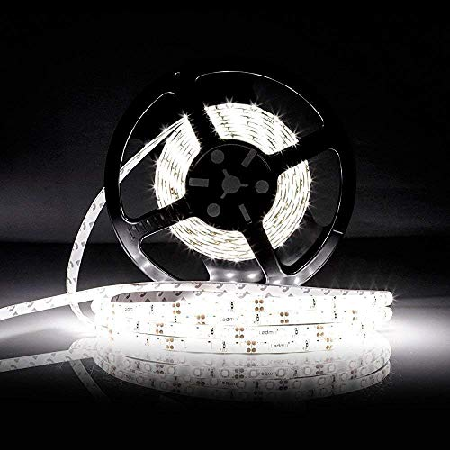 LED Strip Light LEDMO, DC12V Daylight White Flexible lamp, waterproof 2835 LED Tape, Christmas Holiday Home Kitchen Car Bar Indoor Decoration LED ribbon