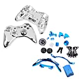 xbox accesories 360 - MagiDeal Replacement Housing Shell Case Accesories Kits for Xbox 360 Controller Blue