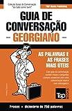 capa de Guia de Conversação Portuguès-Georgiano E Mini Dicionário 250 Palavras