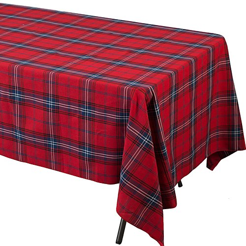 Rectangle Tartan Table Cover Party Supplies Decorations