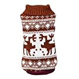 Goodtrade8 Deer Puppy Dog Sweater Turtleneck Cat Winter Warm Pet Dog Clothes Small Medium Large Dogs Girl Costumes Supplies