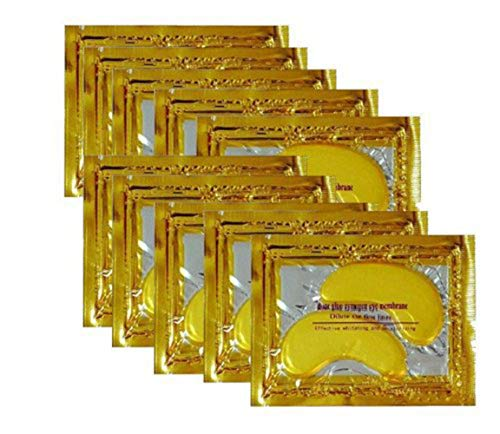 10/20/30/50/60/80/100 pairs wholesale New Crystal 24K Gold Powder Gel Collagen Eye Mask Masks Sheet Patch, Anti Ageing Aging, Remove Bags, Dark Circles & Puffiness, Skincare, Anti Wrinkle, Moisturisin