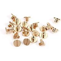 Massief messing nagelklinknagels stud schroef nagel schroef voor leer klinknagels riem DIY goud 10sets 5/6,5 / 8mm (5mm)