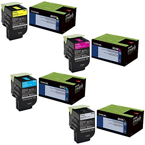 Lexmark  toner cartridge set, 80C10C0, 80C10K0, 80C10M0, 80C