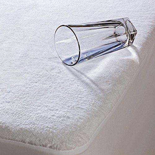 Highliving® Housse de décoration pour Protège-matelas en tissu éponge imperméable hypoallergénique, non bruyant 30,5cm de profondeur, Lit superposé