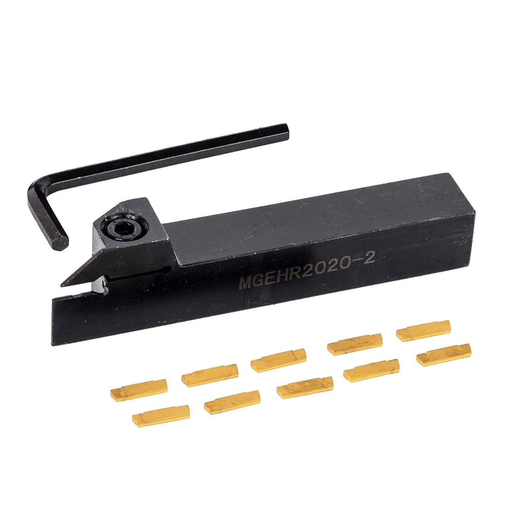 Baoblaze MGMN200 w//MGEHR 1212-2 12mm Parting Grooving Off Tool Holder /& Inserts Set