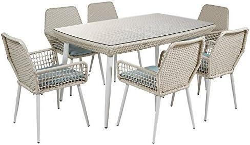 SantiagoPons - Set mesa + 6 sillas jardin: Amazon.es: Jardín