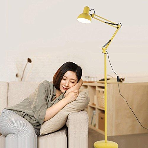 MOMO Stehleuchte einfache moderne Stehlampe Wohnzimmer Beleuchtung Schlafzimmer Studie Stehleuchte Klavier Lampe Angeln Lampe Mahjong Lampe,Gelb (Schwarze Und Gelbe Gläser)