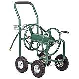 Alitop Garden Water Hose Reel Cart Outdoor Heavy Duty Yard Planting W/Basket