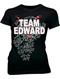 Team Edward Vampire Black Juniors T-shirt Tee