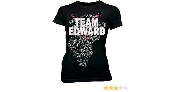 73f1ad159c1 Amazon.com  Team Edward Vampire Black Juniors T-shirt Tee (Small)  Clothing
