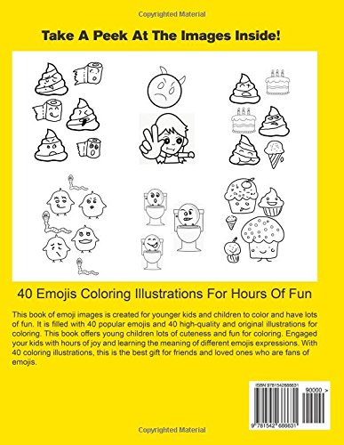 Emoji Coloring Book For Girls And Boys: 40 Fun And Cute Emojis  Illustrations For Coloring: Annie Dell: 9781542686631: Amazon.com: Books