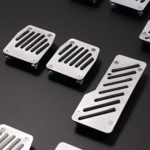 Moving Parts Alloy Car Foot Pedal Set with Black Grips MovingParts