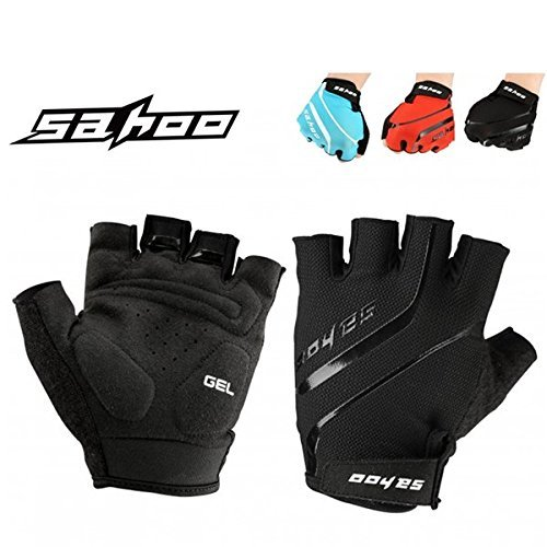 HOMEPRO SAHOO Outdoor Bike Tactical Breathable Sport Cycling Half Finger Gloves Bicycle ( Blue, XL - The Hut Tucson