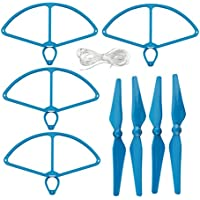 UUMART DJI Phantom 4 RC Quadcopter Spare Parts 4 Propellers And 4 Prop Guards-Blue