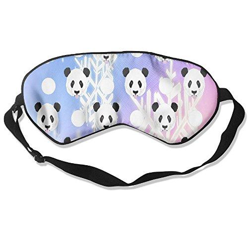 C-JOY Dream Panda Adjustable Eye Shade Patch Sleeping Eye Mask Cover For Men Women Kids White