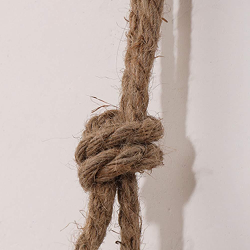 TOOGOO Estante Colgante de Madera Cuerda Giratoria Estantes Flotantes Cuerda de Yute Estante de Exhibici/óN de Decoraci/óN de Pared Estante de Almacenamiento Colgante de Pared