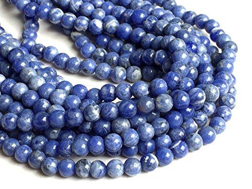 1 Strang Natur Sodalith Stein, natur blau Sodalith Rondelle, blau Perlen, Sodalith Halskette, 5 mm Perlen, 33 cm