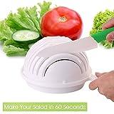 Salad Cutter Bowl,Facelink 60 Seconds Salad Maker Vegetable Cutter Bowl, Healthy Fresh Quick Fruit Salad Maker,Salad Chopper/Spinner with Container,Great Helper for Home Kitchen