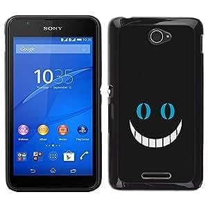 LECELL--Funda protectora / Cubierta / Piel For Sony Xperia E4 -- Gran sonrisa --