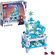 LEGO Disney Frozen II Elsa's Jewelry Box Creation 41168 Disney Jewelry Box Building Kit with Elsa Mini Doll an
