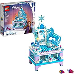 The LEGO Disney Frozen II 41168 Elsa's Jewelry Box Creation makes a perfect gift or Frozen bedroom decor for fans of the Disney Frozen movies. This decorative jewelry box for kids is inspired by Elsa's ice castle with snowflake decoration, an...