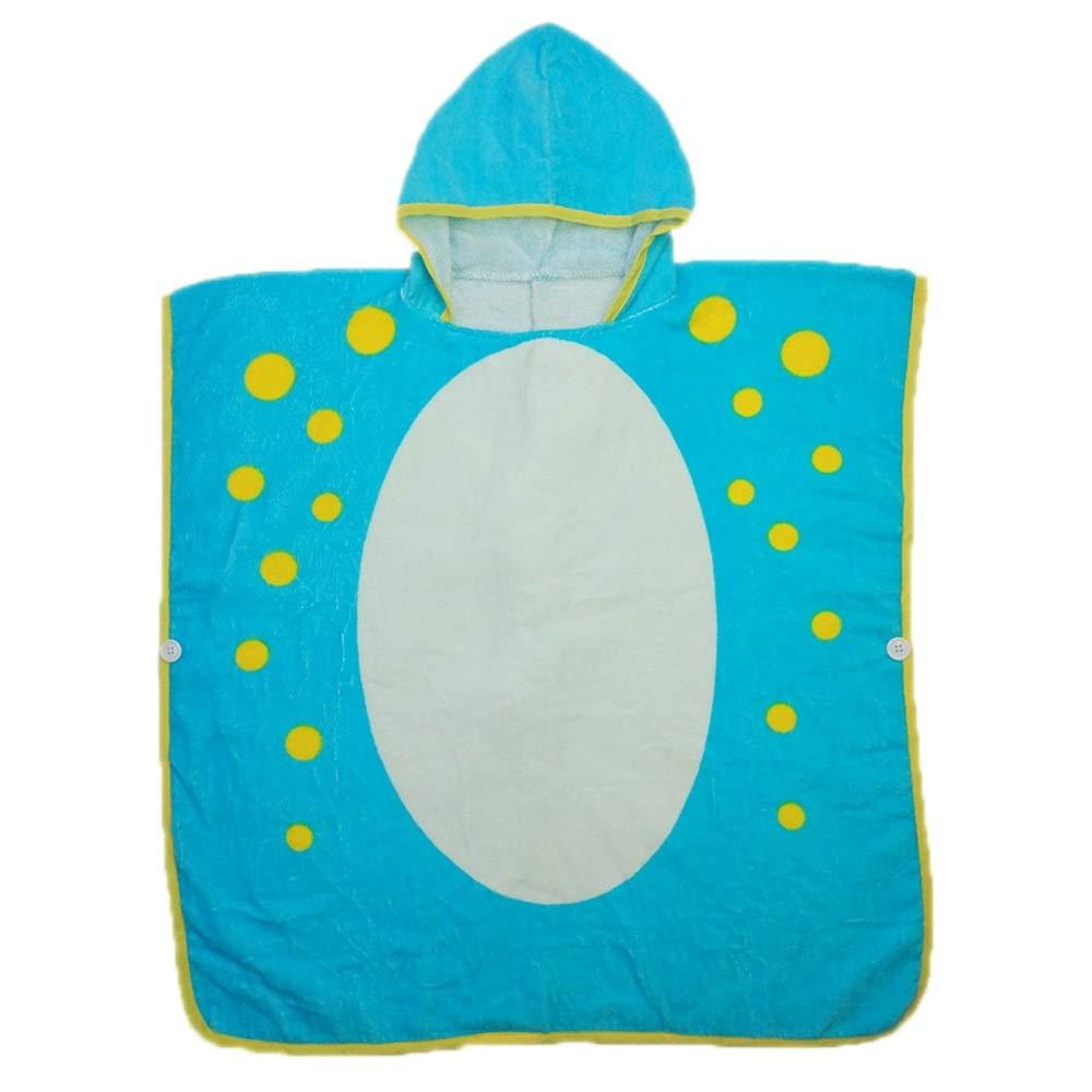 BWAM-tak Kids Hooded Ponchos Kids Children Hooded Bath Towel Beach Bath Towel for Girls/Boys Swimming Bath Towel (Color : Green)