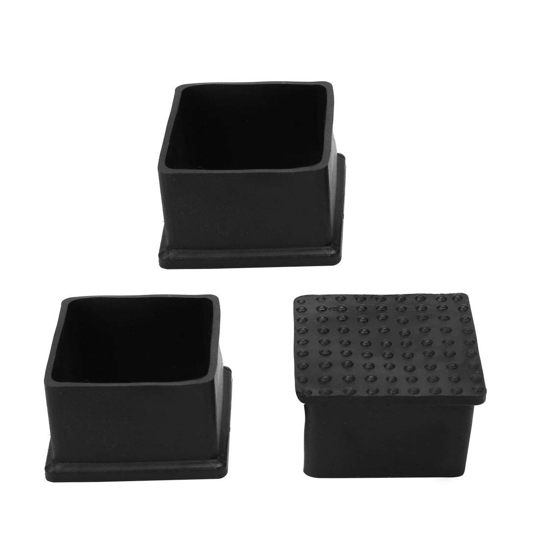50x50mm uxcell PVC Table Leg Cap End Tip Feet Cover Furniture Glide Floor Protector 4pcs 2 x 2 Reduce Noise Prevent Scratch Inner Size