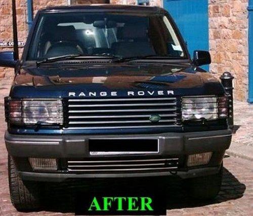 amazon com range rover 1995 2002 chrome upper lower grille grill rh amazon com