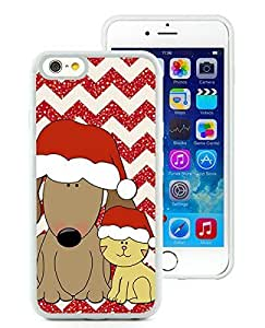 Personalize offerings iPhone 6 Case,Christmas Dog and Cat White iPhone 6 4.7 Inch TPU Case 1