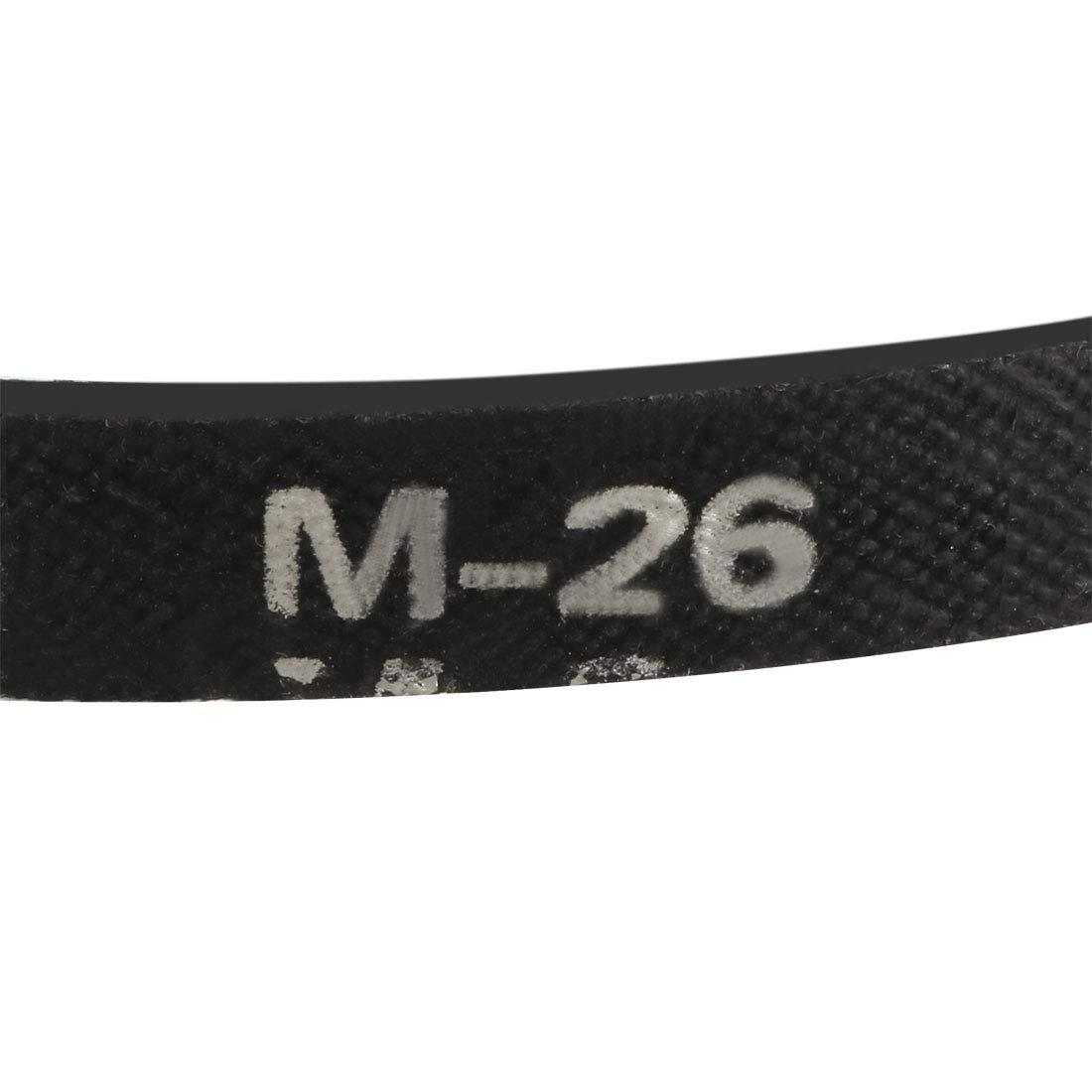 sourcing map O-710 V Belt Machine Transmission Rubber,Black Replacement Drive Belt