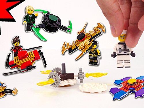 Speed Art Halloween (Clip: Brick Building Fidget Spinners with Sensei and Villain)