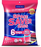 vacuum sealer bags jumbo - Home-Bliz Vacuum Storage Bags (6pack 40 x 30 Inches) Premium Reusable Space Saver Compression Sealer Bags Jumbo Extra Large XL size for clothing bedding blankets!+ FREE Hand-Pump for Trave
