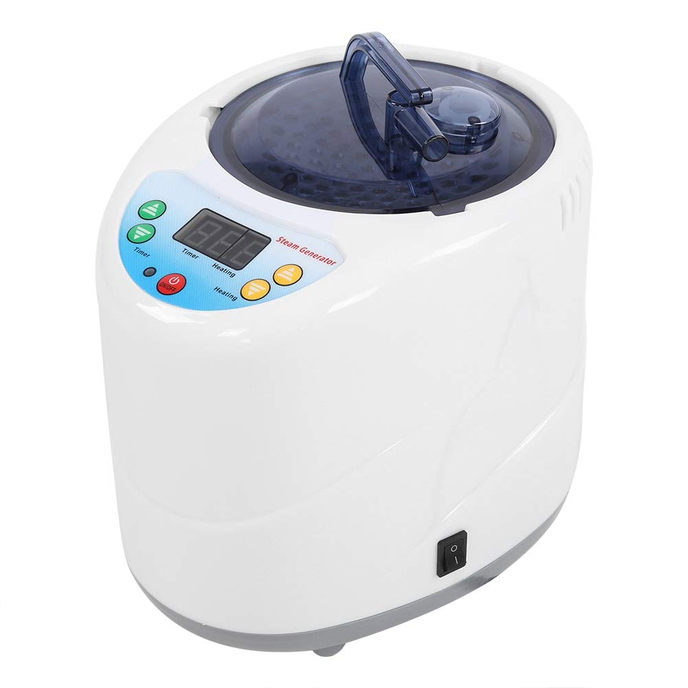 US Plug 110V 2L Portable Sauna Home Spa Steamer Loss Weight Slimming Skin Spa Machine with Sauna Tent and Remote Control for Easing Fatigue and Reducing Stress Asixx Steam Sauna
