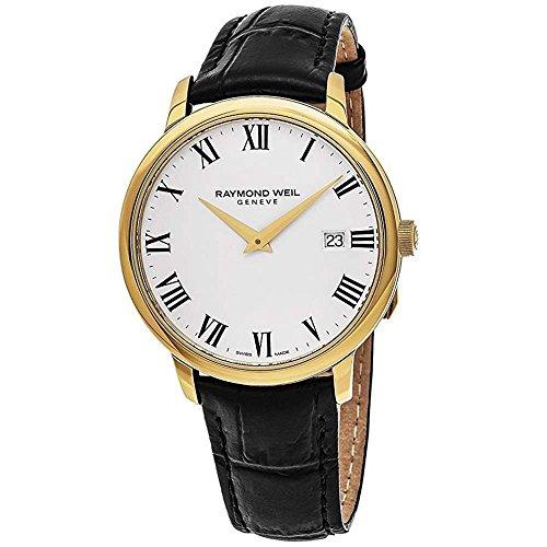 Raymond Weil White Wrist Watch (Raymond Weil White Dial Stainless Steel Leather Quartz Men's Watch 5488-PC-00300)