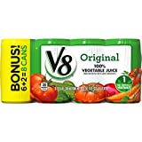 V8 Original 100% Vegetable Juice, 5.5 oz. Can (6 packs of 8, Total of 48)