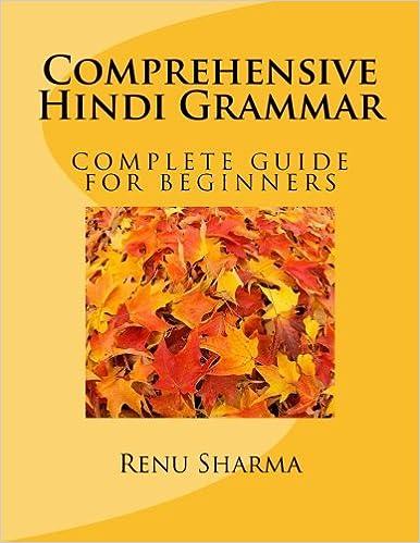 Comprehensive Hindi Grammar (Hindi Edition): Ms. Renu Sharma ...