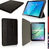 iGadgitz Premium Black PU Leather Smart Cover Case for Samsung Galaxy Tab S2 9.7