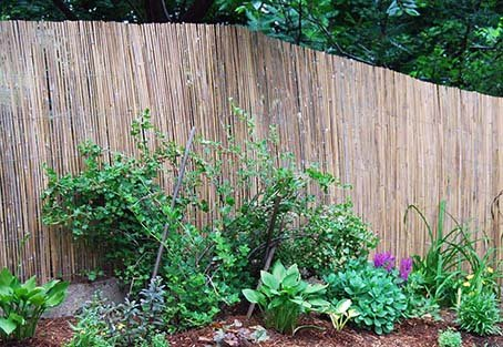 Master Garden Products SBF-96 Bamboo Slat Fence, 6'H x 15'L, Beige
