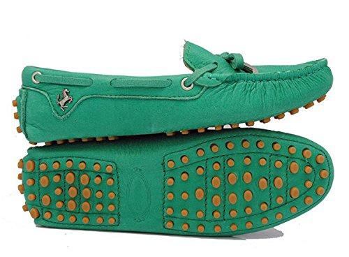 Minishion Filles Femmes Nubuck Cuir Slip-on Mode Mocassins Occasionnels Flâneurs Mocassins Chaussures De Course Aigue-marine