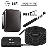 2.0 Megapixels HD WiFi Endoscope,ONETEKS Digital Inspection Camera with 6 LEDs and 16.5ft Cable Wireless Endoscope for iOS and & Android Smart Phone & Tablets