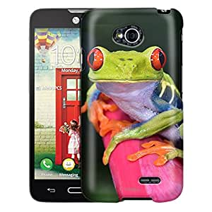 LG Optimus L70 Case, Slim Fit Snap On Cover by Trek Red Eye Tree Frog Case