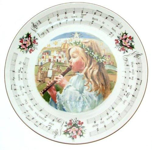 Royal Doulton Christmas 1985 plate Christmas Carols O Little Town of Bethlehem CP1895