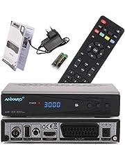 Ankaro DCR 3000 Plus digitale 1080p Full HD kabelontvanger voor kabeltelevisie (HDTV, DVB-C/C2, HDMI, scart, coaxiaal, mediaspeler, USB) automatische installatie, zwart