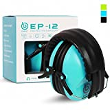 EAREST Noise Reduction Safety Ear muffs,NRR 20dB Professional Hearing Protection Folding-Padded Ear Cups Shooting Hunting Ear Muffs with a Carrying Bag Fits Adults,Children - Lake Blue